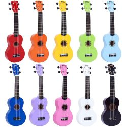 Ukuleles, bags and cases